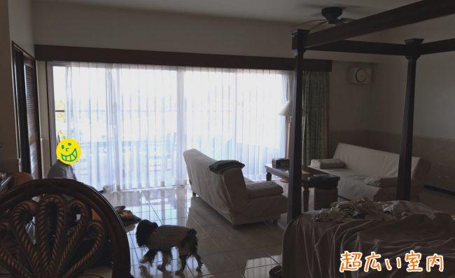 カヌチャベイホテル ペットと一緒プラン マグノリア棟 客室