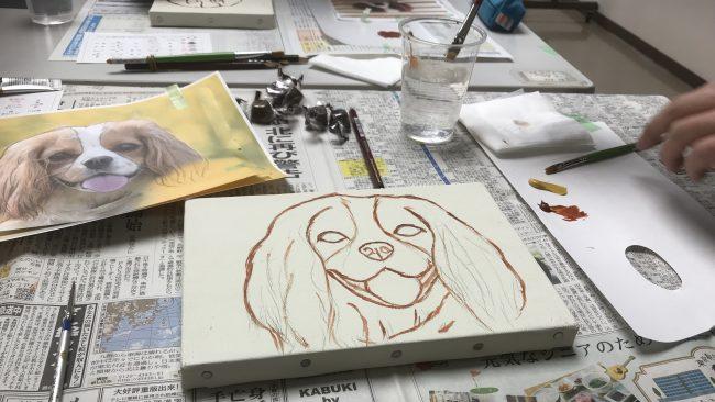 絵心ゼロでも描けるキャバリアイラスト教室