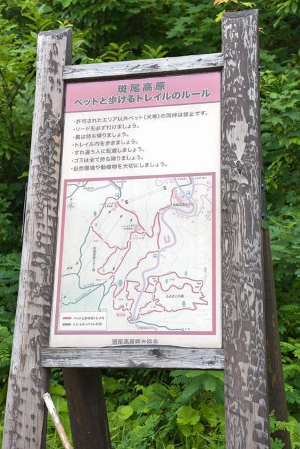 斑尾高原 ふるさとの森 看板